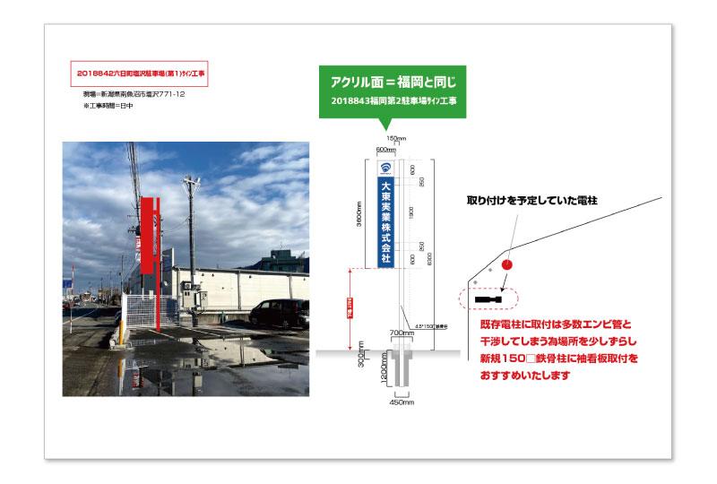 新潟県の運送屋の看板デザイン案 さいたまの看板屋