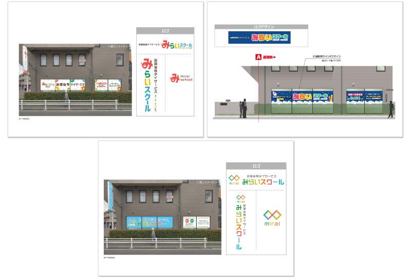 富士見市の放課後デイサービス(障がい児支援施設)の看板デザイン案