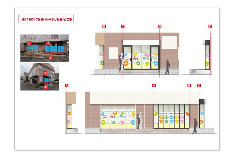 ふじみ野市の放課後デイサービス(障がい児支援施設)の看板デザイン案