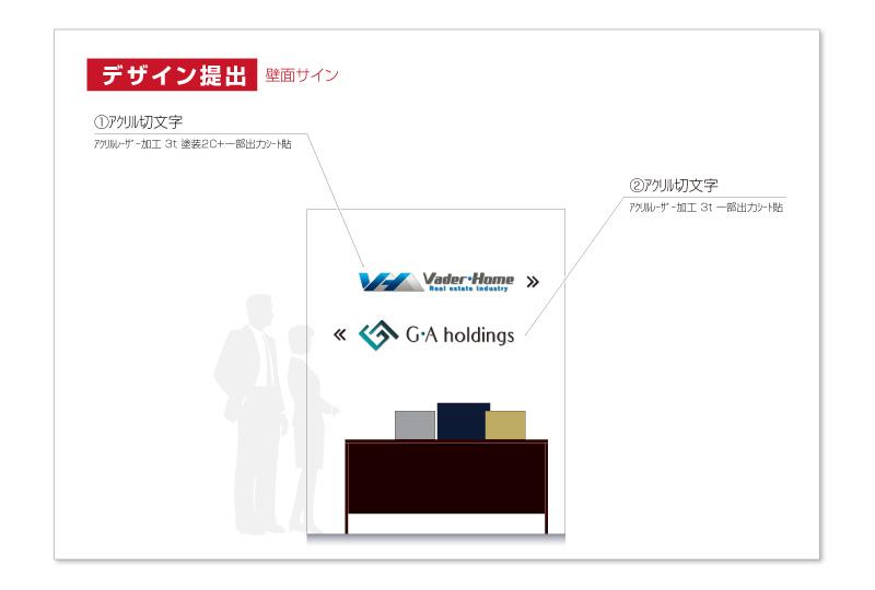横浜オフィスサインのデザイン